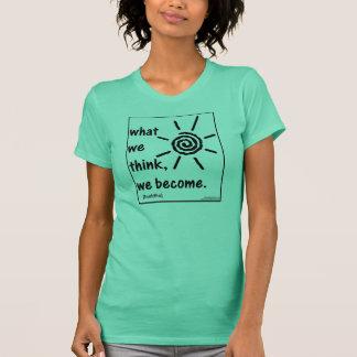 Camiseta A sabedoria de Buddha cita (no. 1)