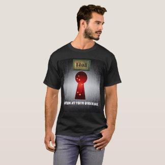Camiseta A sala 1408 entra a seu próprio risco