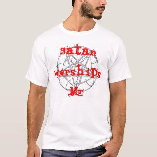 Camiseta a satã adora-me t-shirt