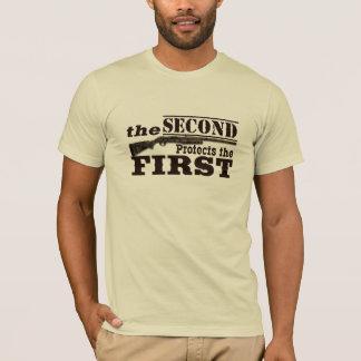 Camiseta A segunda alteração protege a Primeira Emenda