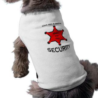 Camiseta a segurança k9, eu tomo uma mordida fora do crime