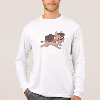 Camiseta A senhora Frenchie está saindo para uma caminhada