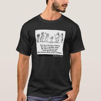 Camiseta A senhora idosa de Edward Lear da quintilha jocosa