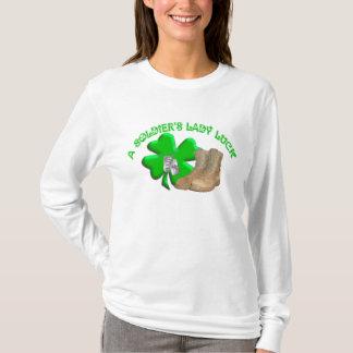 Camiseta A senhora Sorte de um soldado