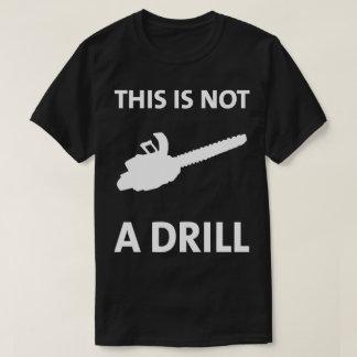 Camiseta A serra de cadeia isto não é um t-shirt cómico da