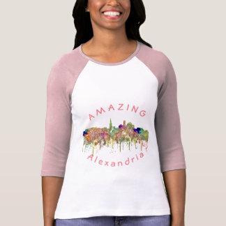 Camiseta A skyline de Alexandria SG-Desvaneceu-se glória -