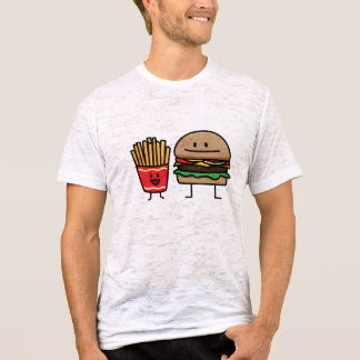Camiseta A sucata do bolo do fast food do Hamburger e das