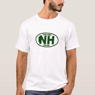Camiseta A taxa viva de New Hampshire ou morre