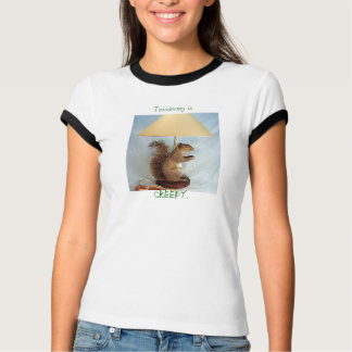 Camiseta a taxidermia é assustador