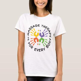 Camiseta A terapia da massagem é para cada corpo