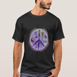Camiseta A terra coexiste com sinal de paz