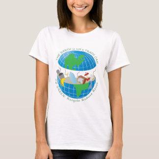 Camiseta A terra é ainda um mármore azul grande