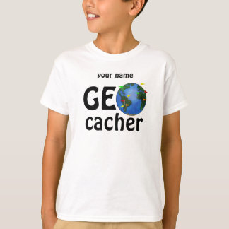 Camiseta A terra Geocaching de Geocacher caçoa o T