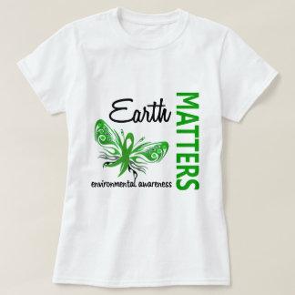 Camiseta A terra importa consciência ambiental da borboleta