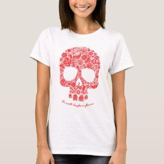 Camiseta A terra ri em mulheres do t-shirt das flores