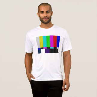 Camiseta A tevê barra o teste da cor