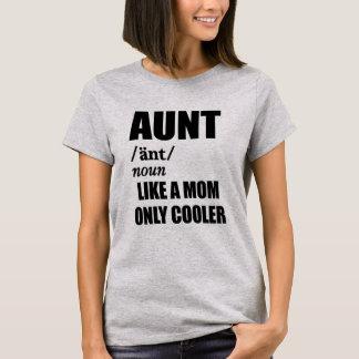 Camiseta A tia gosta de um t-shirt de umas mulheres