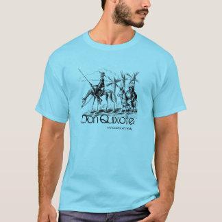 Camiseta A tinta de Don Quixote e de Sancho Panza encerra a