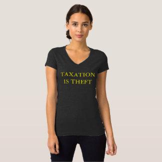 Camiseta A tributação é roubo para mulheres