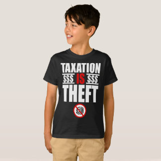 Camiseta A TRIBUTAÇÃO É t-shirt dos miúdos do ROUBO
