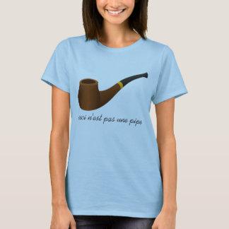 Camiseta A tubulação a mais n'est do une do pas de Ceci