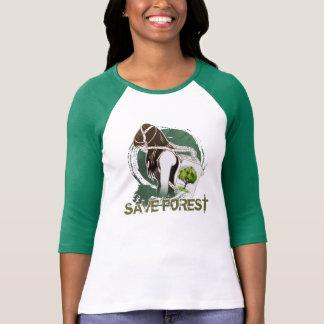 Camiseta A última respiração na terra (SALVAR A FLORESTA)