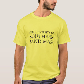 Camiseta A universidade da massa do sul da terra