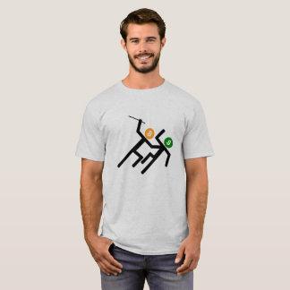 Camiseta A vara figura Bitcoin cripto contra o dólar