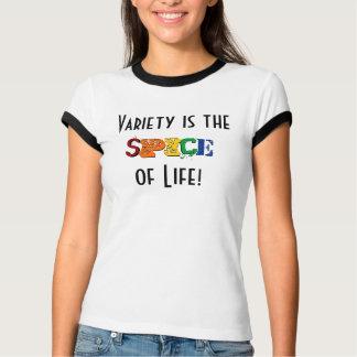 Camiseta A variedade é a especiaria da vida!