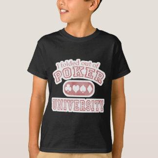 Camiseta A velha escola da universidade do póquer
