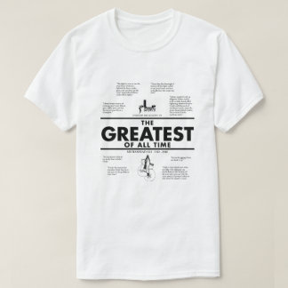 "Camiseta A vénia ostenta ""o grande o tributo de toda a"