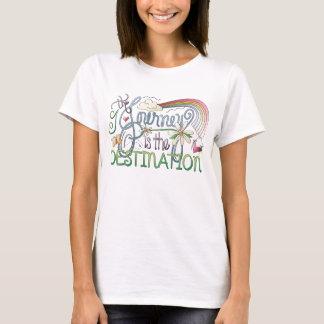 Camiseta A viagem é o t-shirt do destino