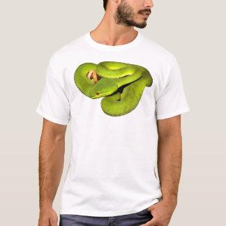 Camiseta A víbora de poço branco-labiada
