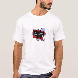 Camiseta A vida acontece - branco