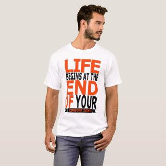 Camiseta A vida começa no fim de sua zona de conforto