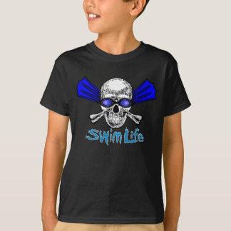 Camiseta A vida da natação caçoa o T escuro