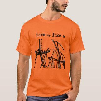 Camiseta A vida é como um t-shirt da montanha russa