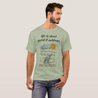 Camiseta a vida é curta gasta-o fora
