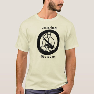 Camiseta A vida é jazz, jazz é vida