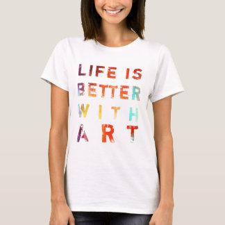 Camiseta A vida é melhor com arte
