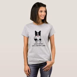 Camiseta A vida é melhor com border collie