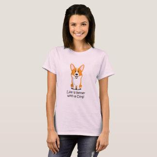 Camiseta A vida é melhor com um Corgi