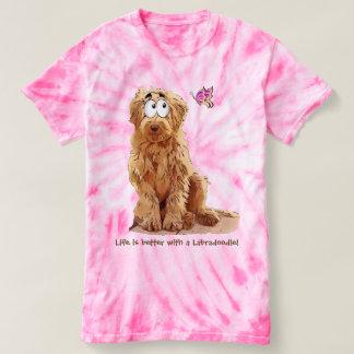 Camiseta A vida é melhor com um Labradoodle
