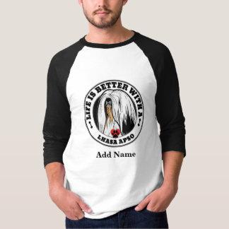 Camiseta A vida é melhor com um Lhasa Apso personalizada
