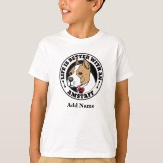 Camiseta A vida é melhor com um nome de Staffordshire