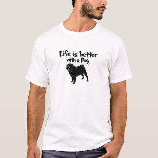 Camiseta A vida é melhor com um Pug