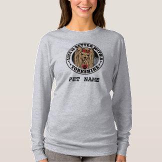 Camiseta A vida é melhor com um Yorkshire personalizado