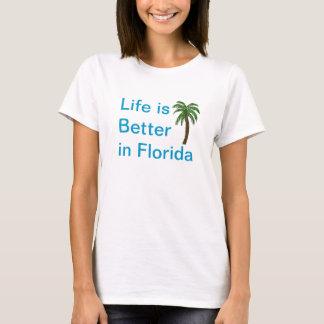 Camiseta A vida é melhor no t-shirt da palmeira de Florida