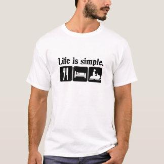 Camiseta A vida é simples, snowmobiling