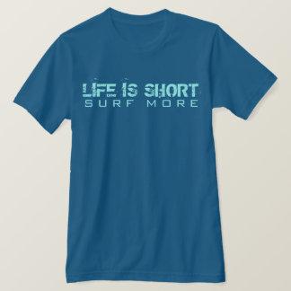 Camiseta A vida é surf curto mais